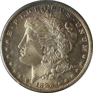 Authentic 1888-O Morgan Silver Dollar PCGS MS65 Great