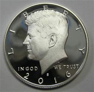 Authentic 2016-S Clad Proof John F Kennedy Half Dollar