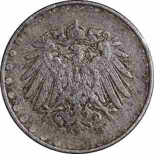 Authentic Germany 10 Pfennig 1916 (Error) KM#20 Fine -