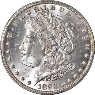 Authentic 1883-CC Morgan Silver Dollar PCGS MS64 Blast