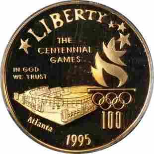 Authentic 1995-W Stadium Commem Gold $5 PCGS PR69 Deep