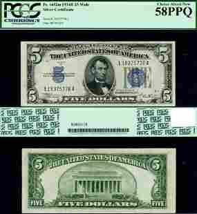 Authentic FR. 1652 M $5 1934-B Silver Certificate Mule
