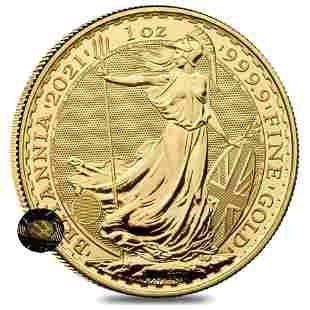 2021 Great Britain 1 oz Gold Britannia Coin .9999 Fine