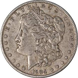 Authentic 1884-O Morgan Silver Dollar Nicely Circulated
