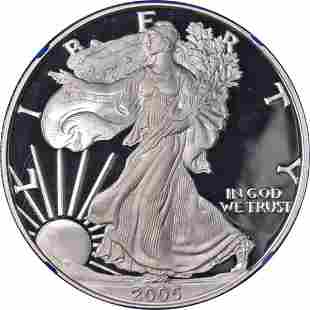 Authentic 2005-W Silver American Eagle $1 NGC PF69