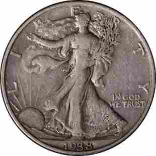 Authentic 1938-D Walking Liberty Half Great Deals From
