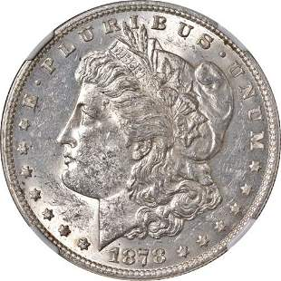 Authentic 1878-P 7TF Rev 78 Morgan Silver Dollar NGC
