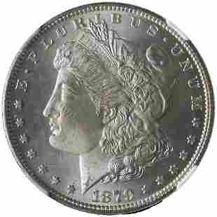 Authentic 1879-S Morgan Silver Dollar NGC MS65 Bright