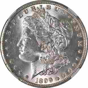 Authentic 1899-O Morgan Silver Dollar NGC MS63 Great
