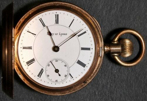 Authentic Lady of Lyons Pocket Watch 6 Size 14k Hunting
