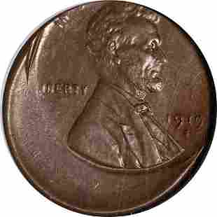 Authentic 1919-S Lincoln Cent Struck 25% Off Center NGC