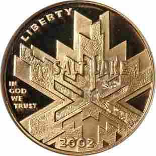 Authentic 2002-W Olympics Salt Lake Commem Gold $5 NGC