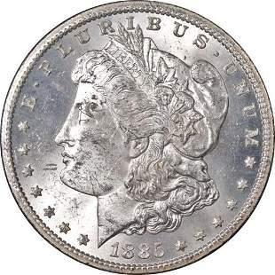 Authentic 1885-CC GSA Morgan Silver Dollar NGC MS62