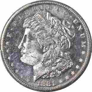 Authentic 1881-S Morgan Silver Dollar PCGS MS64 DMPL