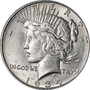 Authentic 1934-D Peace Dollar Great Deals From The