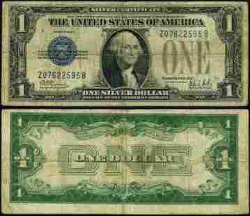 Authentic FR. 1602 $1 1928-B Silver Certificate