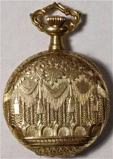 Authentic 14k Gold Case Wonderful Engraving 0 Size