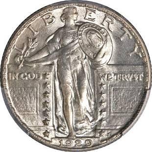 Authentic 1929-P Standing Liberty Quarter PCGS MS64