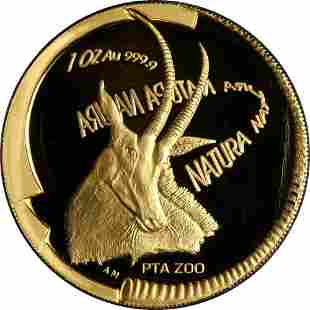 Authentic 2000 Natura 1 Ounce Gold Coin - .9999 Fine -