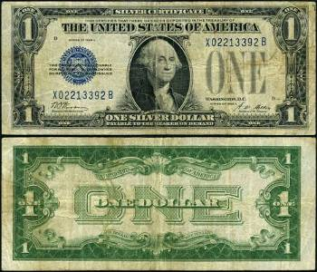 Authentic FR. 1601 $1 1928-A Silver Certificate