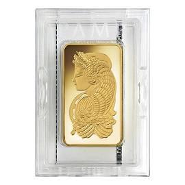 10 oz PAMP Suisse Lady Fortuna Gold Bar .9999 Fine (In