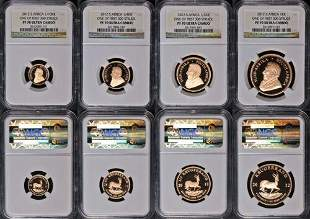 Authentic 2012 South Africa Gold Krugerrand 4 Coin NGC