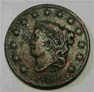 Authentic 1830 Large Letters Coronet Head Large Cent in