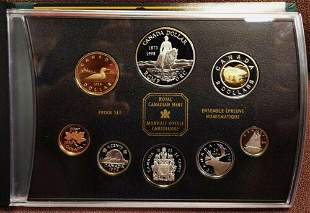 Authentic 1998 Canada Double Dollar Silver Proof Set