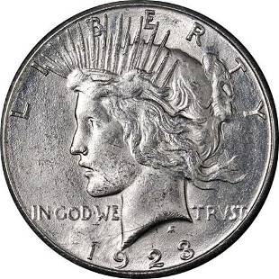 Authentic 1923-S Peace Dollar Great Deals From The