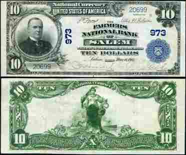 Authentic Salem OH $10 1902 PB National Bank Note Ch