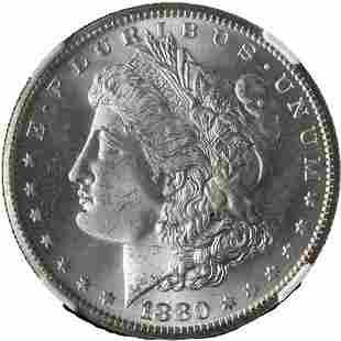 Authentic 1880-S Morgan Silver Dollar NGC MS65 Blazing