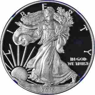 Authentic 2015-W Silver American Eagle $1 NGC PF69
