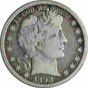 Authentic 1898-O Barber Half Dollar Nice VF Details Key