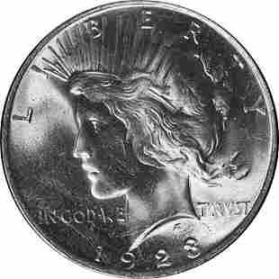 Authentic 1923-P Peace Dollar PCGS MS64+ Superb Eye