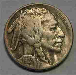Authentic 1923-S Buffalo Nickel Grading VF Nearly Full