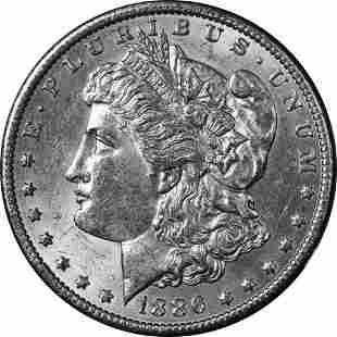 Authentic 1886-O Morgan Silver Dollar Nice BU+ Great
