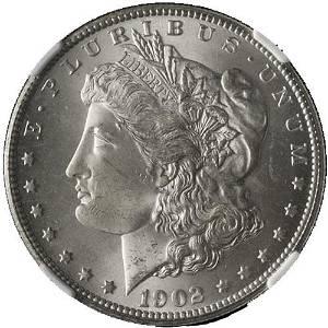 Authentic 1902-O Morgan Silver Dollar NGC MS64 Blast