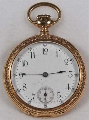 Authentic American Waltham Pocket Watch 12 Size 14k