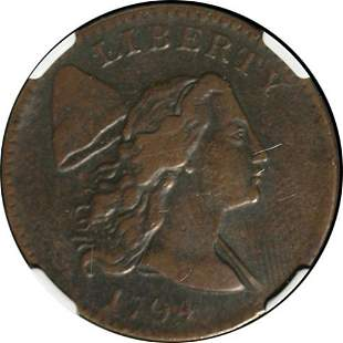 Authentic 1794 Large Cent Head of 1794 NGC VF Details