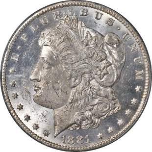 Authentic 1881-CC Morgan Silver Dollar OGH PCGS MS61 PL