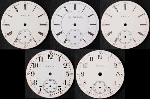 Authentic Vintage Pocket Watch Porcelain Dials - Elgin