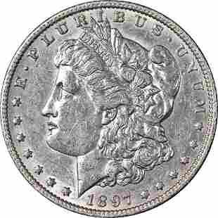 Authentic 1897-O Morgan Silver Dollar AU/BU Nice Eye