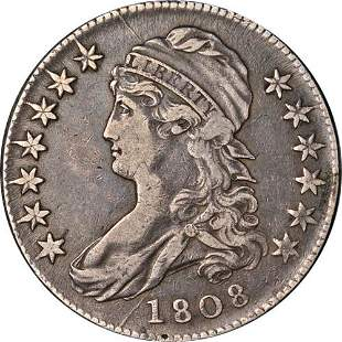 Authentic 1808 Bust Half Dollar Nice XF 0-106a R.2