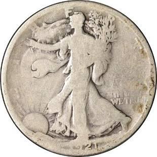 Authentic 1921-P Walking Liberty Half Great Deals From