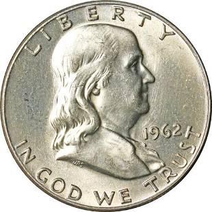 Authentic 1962-P Franklin Half Dollar - Full Bell Lines