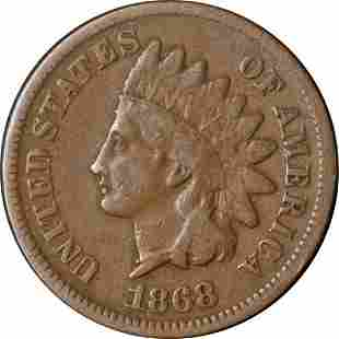 Authentic 1868 Indian Cent Great Deals From The