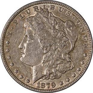Authentic 1879-S Rev 78 Morgan Silver Dollar Nicely
