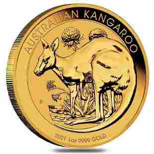 2021 1 oz Australian Gold Kangaroo Perth Mint Coin