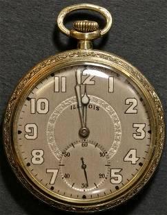 Authentic Illinois Elite Pocket Watch 10 Size 19 J.
