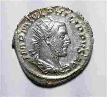 Authentic Antoninianus 244-245 AD. Near Mint Roman